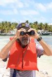 Guarda del puerto Imágenes de archivo libres de regalías