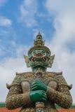 Guarda en Wat Phra Kaew, Templae de Emerald Buddha Fotografía de archivo libre de regalías