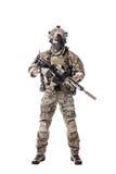 Guarda florestal do exército em uniformes do campo Foto de Stock
