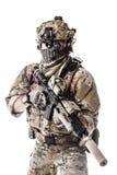 Guarda florestal do exército em uniformes do campo Fotos de Stock Royalty Free