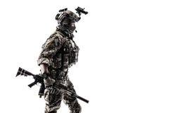 Guarda florestal do exército em uniformes do campo Fotografia de Stock