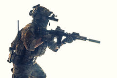 Guarda florestal do exército em uniformes do campo Foto de Stock Royalty Free