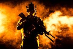 Guarda florestal do exército em uniformes do campo Imagem de Stock