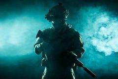 Guarda florestal do exército em uniformes do campo Fotos de Stock