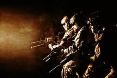 Guarda florestal do exército em uniformes do campo Imagem de Stock Royalty Free