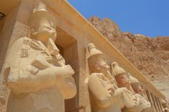 Guarda o templo de proteção de Hatshepsut Imagem de Stock