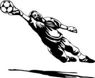 Guarda-redes preto e branco ilustração do vetor