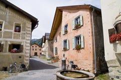 Guarda; villaggio storico Fotografia Stock Libera da Diritti