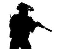 Guardabosques del ejército en uniformes del campo Foto de archivo libre de regalías