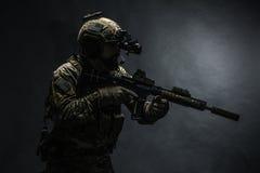 Guardabosques del ejército en uniformes del campo Fotos de archivo libres de regalías