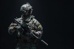 Guardabosques del ejército en uniformes del campo Imagen de archivo libre de regalías