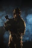 Guardabosques del ejército en uniformes del campo Imagenes de archivo