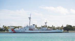 Guardacostas Ship Docked en la Florida Imagenes de archivo