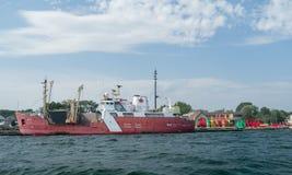 Guardacostas Ship Tracy Foto de archivo