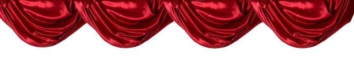 Guardamalleta roja de la cortina, aislada Fotos de archivo