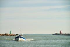 Guardamar fiskehamn Royaltyfri Bild