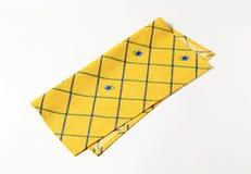 Guardanapo amarelo Foto de Stock Royalty Free