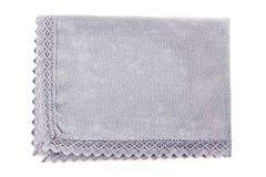 Guardanapo azul do algodão no branco Imagens de Stock