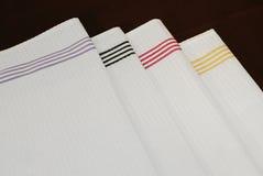Guardanapo brancos de pano Imagem de Stock Royalty Free