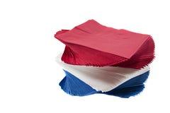 Guardanapo coloridos do partido no fundo branco isolado Imagens de Stock Royalty Free