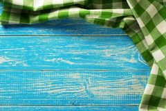 Guardanapo de pano na madeira Fotografia de Stock