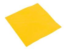 Guardanapo de papel amarelo Imagens de Stock Royalty Free