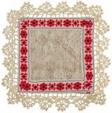 Guardanapo de tabela de linho tricotado manualmente Imagem de Stock
