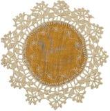 Guardanapo de tabela de linho tricotado manualmente Fotografia de Stock