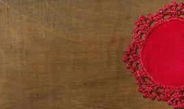 Guardanapo de tabela de linho tricotado manualmente Imagens de Stock Royalty Free