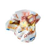 guardanapo do euro 50 Imagens de Stock