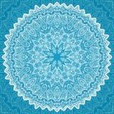 Guardanapo laçado ornamentado branco, teste padrão do círculo do vetor Imagens de Stock Royalty Free