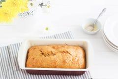 Guardanapo listrado do bolo do limão Imagens de Stock