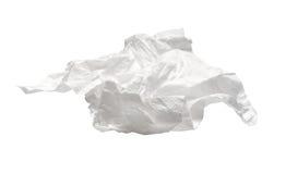 Guardanapo usado isolado no branco Imagem de Stock Royalty Free