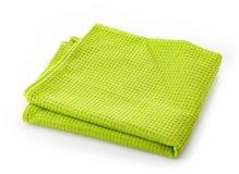 Guardanapo verde do algodão Imagem de Stock Royalty Free