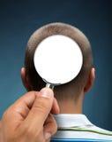 Guardando ad una testa Fotografia Stock Libera da Diritti
