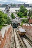 Guardando attraverso Budapest fotografie stock