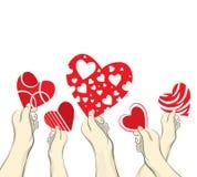 Guardando corações ilustração stock