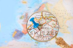Guardando dentro su Berna, Svizzera Fotografia Stock Libera da Diritti
