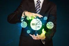 Guardando diagramas do negócio imagens de stock royalty free