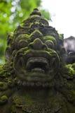 Guardando a estátua em um templo hindu do Balinese em Bali, Indonésia Imagens de Stock Royalty Free