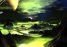 Paesaggio dello straniero di verde di calce Fotografia Stock Libera da Diritti
