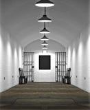 Vecchio blocchetto di cella di prigione Fotografia Stock Libera da Diritti