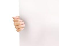 Guardando o papel branco da placa A4 Imagens de Stock