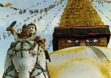 Guardando o templo imagens de stock