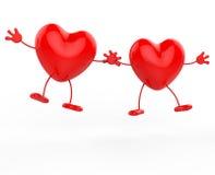 Guardar as mãos representa Valentine Day And Friendship ilustração stock