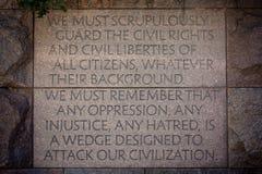 Guardar las derechas civiles Imágenes de archivo libres de regalías