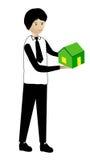 Guardarando uma casa verde Fotografia de Stock Royalty Free