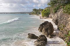 Guardare indietro l'isola dei Caraibi Fotografie Stock