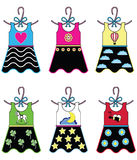 Guardaroba delle ragazze - vestiti Fotografie Stock
