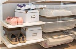 Guardarropa del armario Fotografía de archivo libre de regalías